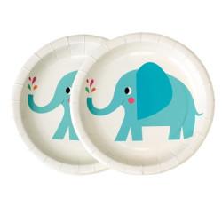 Blå Elefant Tallrikar