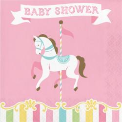 Servetter Babyshower Karusell