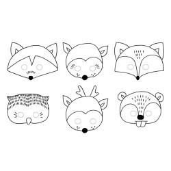 Måla egna Woodland Masker
