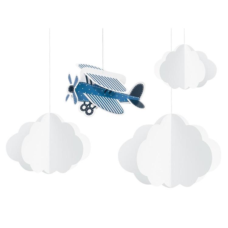 Dekoration Moln och Flygplan