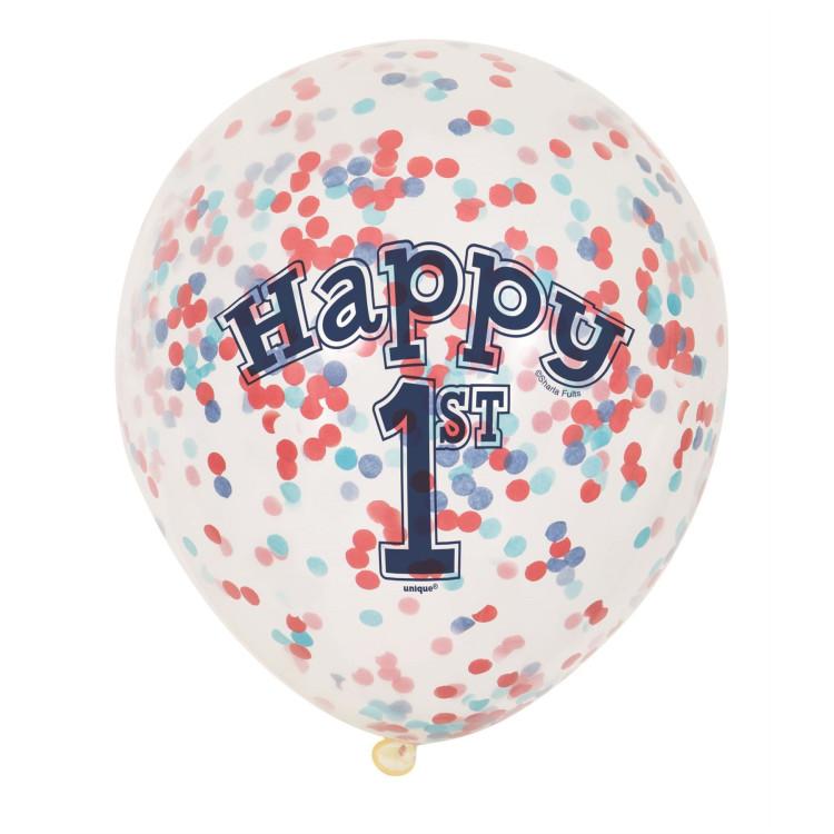ballong 1 år Köp Ballong med konfetti 1 år hos Partytajm ballong 1 år