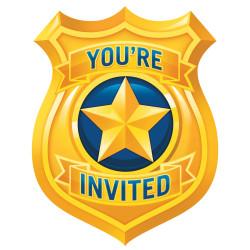 Inbjudningskort Police