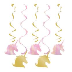Enhörning Sparkle Girlanger 5-pack