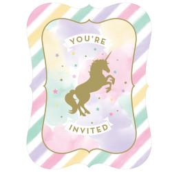 Enhörning Sparkle Inbjudningskort
