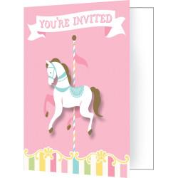 Inbjudningskort Karusell