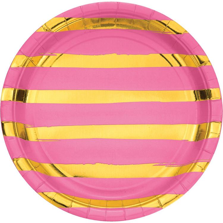 Tallrik Candy Pink Foil