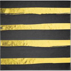 Servetter Svart Velvet Foil
