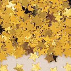 Konfetti Stjärna Guld
