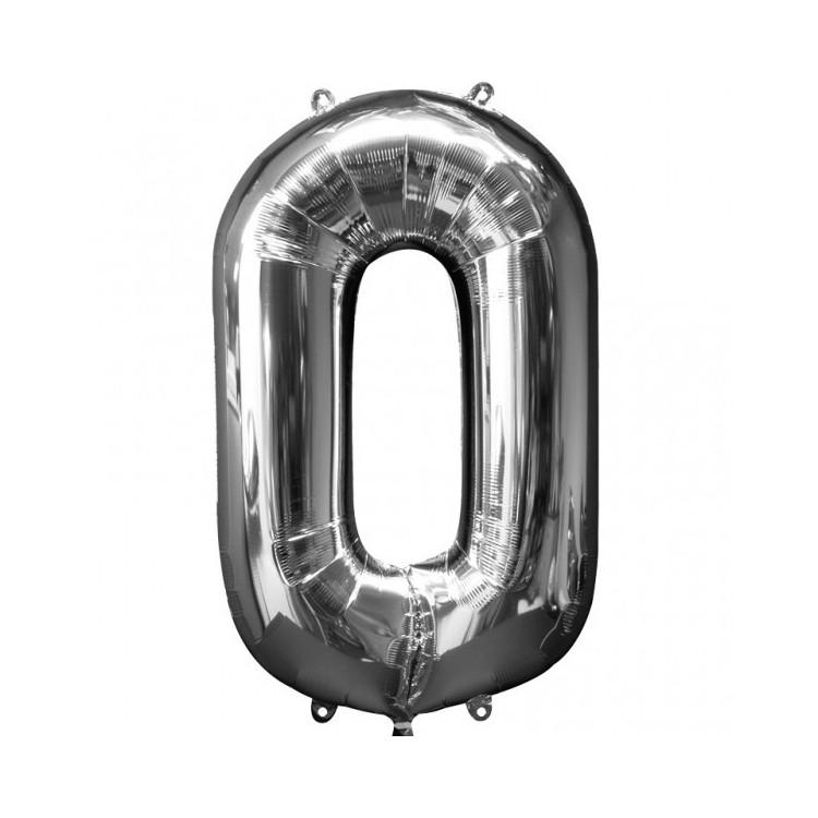 Folieballong 4 silver