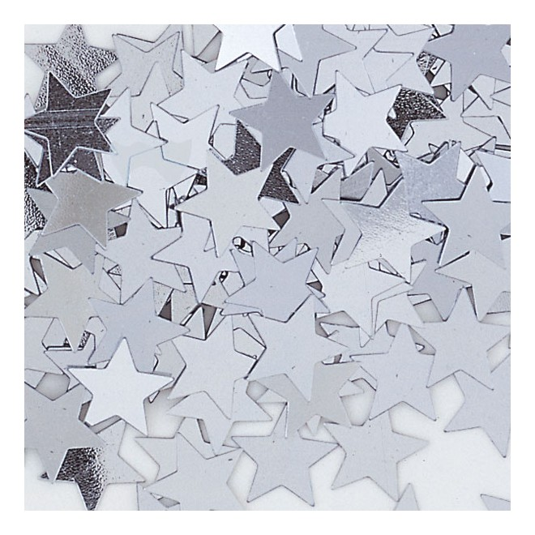 Konfetti Stjärna Silver
