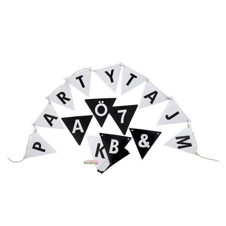 Bokstavsvimpel Alfabet & Siffror