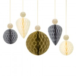 Honeycomb Bauble Neutral