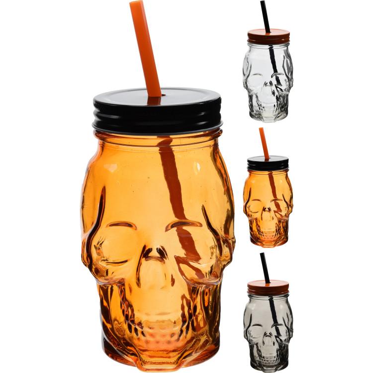 Dödskalleglas med Sugrör