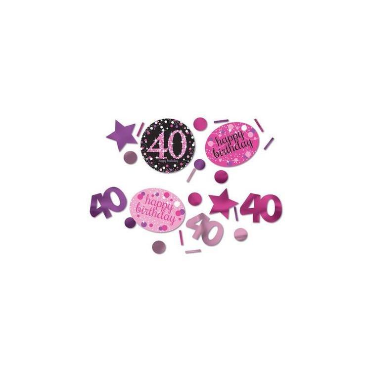 Pink konfetti 40 år mix