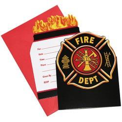 Brandbil Inbjudningskort Fire