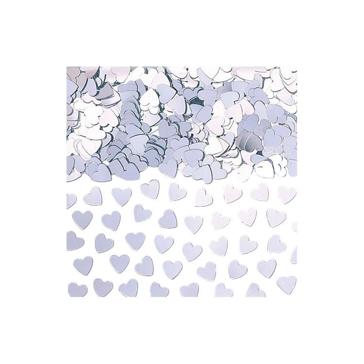 Konfetti Hjärta silver