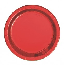 Tallrik Röd Metallic