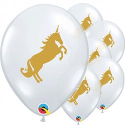 Ballonger Enhörning Guld