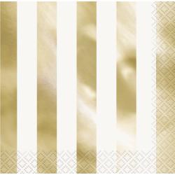 Servetter Randig Guld Foil