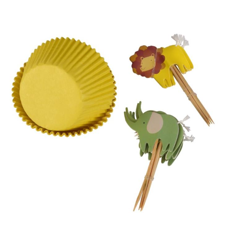 Cupcake Kit Lejon & Elefant