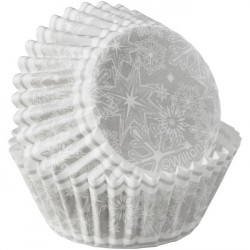 Bakformar Mini Snöflingor Silver