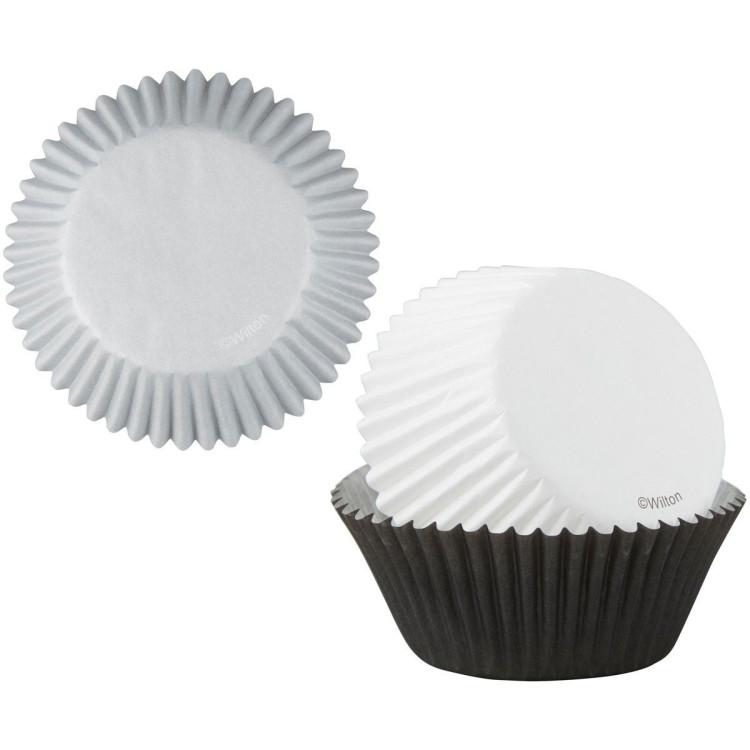 Muffinsformar Svart, Vit & Silver