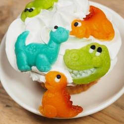 Sockerdekoration Dinosaurier
