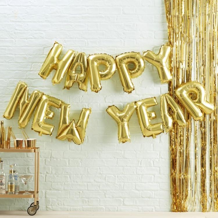 "Girlang Folieballonger ""Happy New Year"""