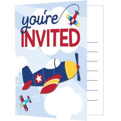 Inbjudningskort Flygplan