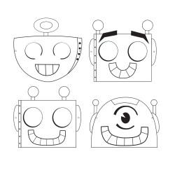 Robotmasker Måla själv