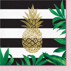 Servetter Ananas Foil
