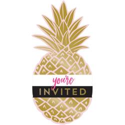Inbjudningskort Ananas Foil