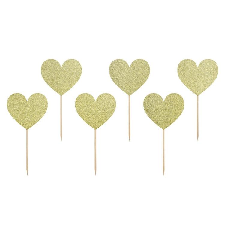 Partypicks Hjärtan Guld