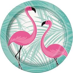 Tallrikar Rosa Flamingo