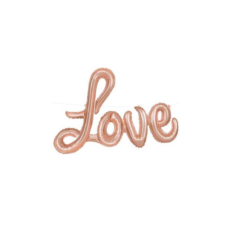 Folieballong Rosé Love