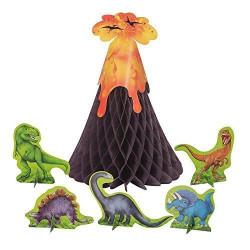 Bordsdekoration Vulkan & Dinosaurier