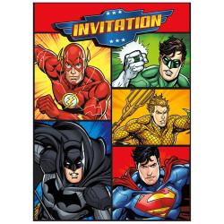 Inbjudningskort Justice League