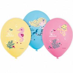 Ballonger Sjöjungfru Pastell