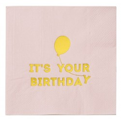 Servetter It´s Your Birthday Rosa