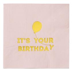 Servetter It´s Your Birthday Rosa