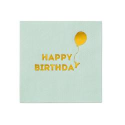 Kaffeservetter Happy Birthday Mint