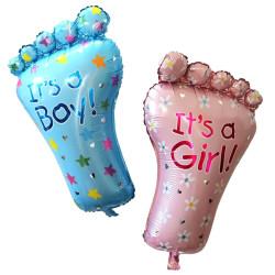 Folieballong Babyblå Fot