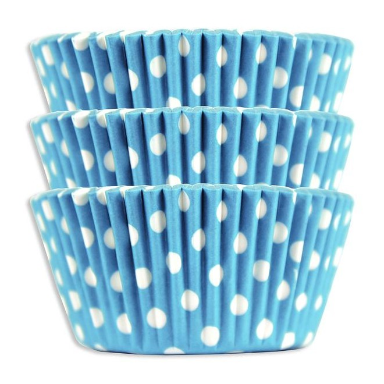 MuffinsformarLjusblå Dots