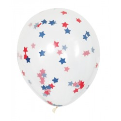 Ballonger med Stjärnkonfetti