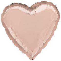 Folieballong Hjärta Puderrosa