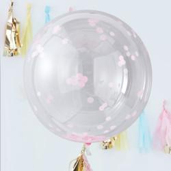 Jätteballonger med Rosa Konfetti 3-pack
