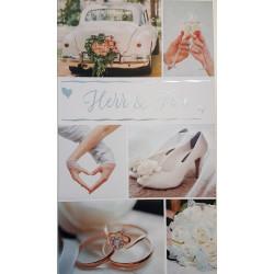 Gratulationskort till Brudparet