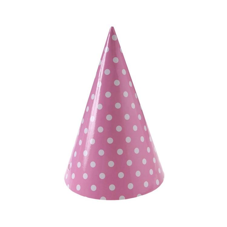 Köp Partyhattar Rosa Dots hos Partytajm 2dea892691300