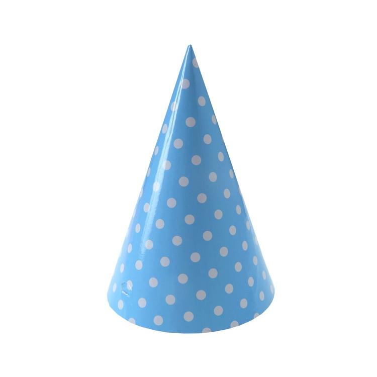 Partyhattar Ljusblå Dots