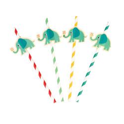 Blå Elefant Sugrör